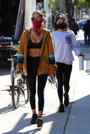 Chantel Jeffries - Seen after workout with a friend at DogPound in Los Angeles