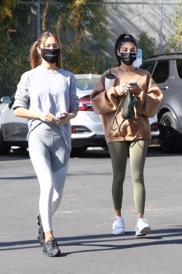 Chantel Jeffries - seen at Dogpound with a friend in Los Angeles