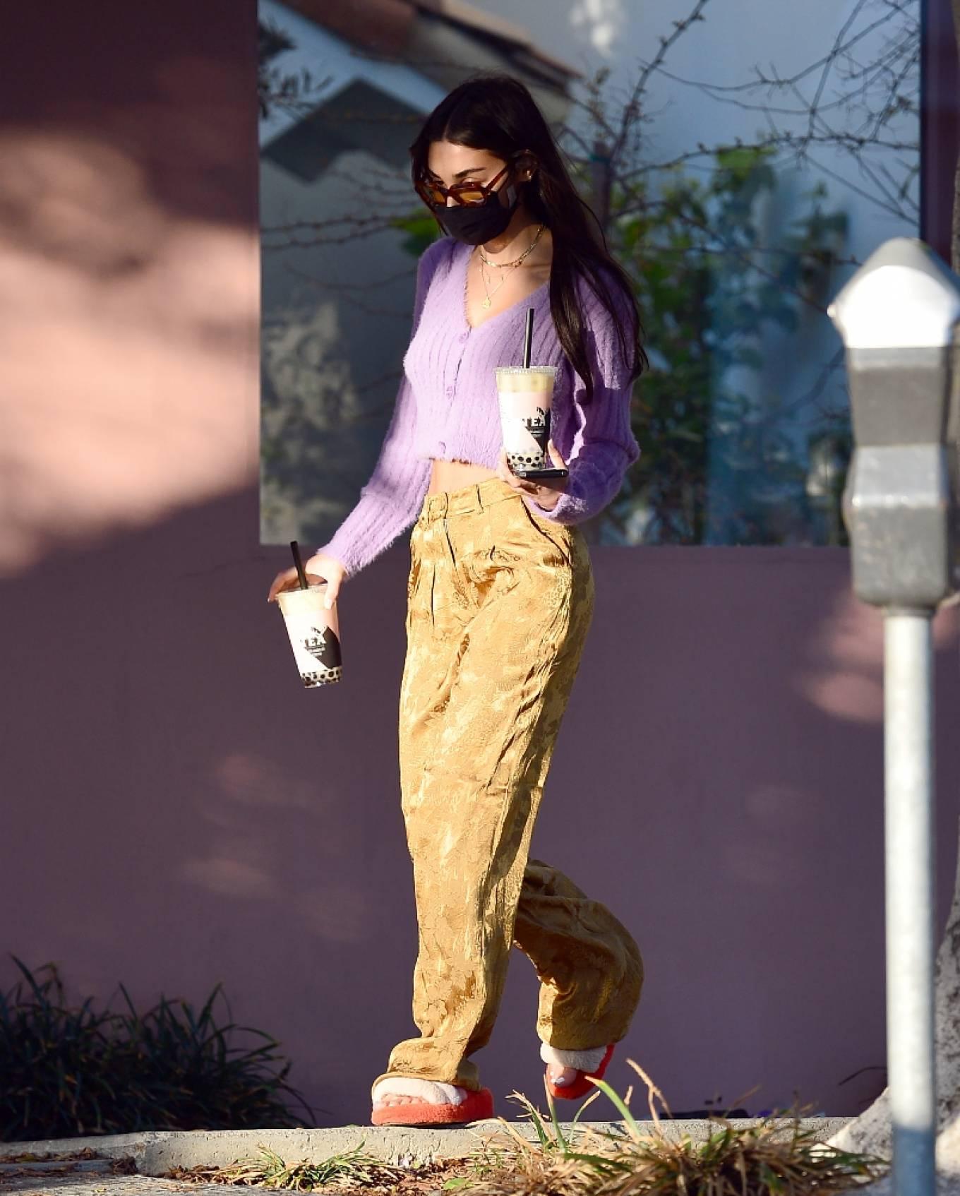 Chantel Jeffries - Seen leaving Alfred tea shop in West Hollywood