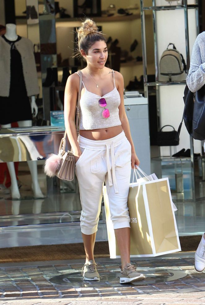 Chantel Jeffries Shopping at Michael Kors in Hollywood