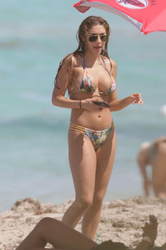 Chantel Jeffries in Bikini on Miami Beach