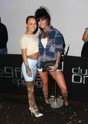 Chantelle Connelly and Jemma Lucy at Club195 in Essex