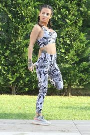 Chantelle Connelly in Gym Outfit - Workout in Istanbul