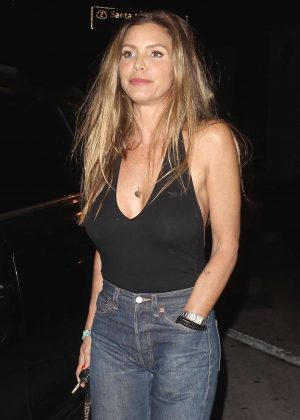 Charisma Carpenter Leaving Craig's restaurant in Los Angeles