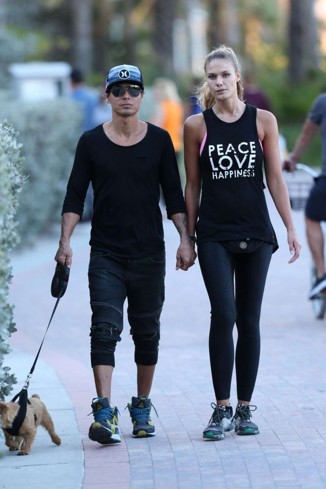 Charisse Verhaert in Tights Out in Miami
