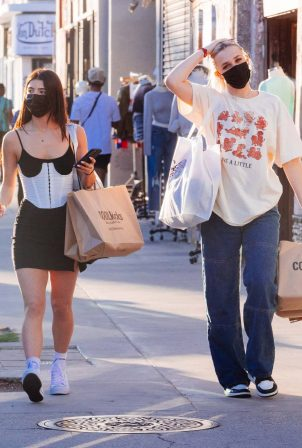 Charli D'Amelio and Madi Monroe - Shopping candids on Melrose in Los Angeles
