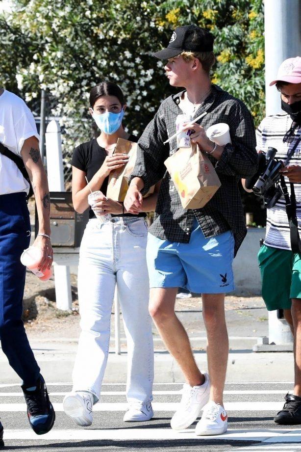 Charli D'amelio out with her boyfriend in Malibu
