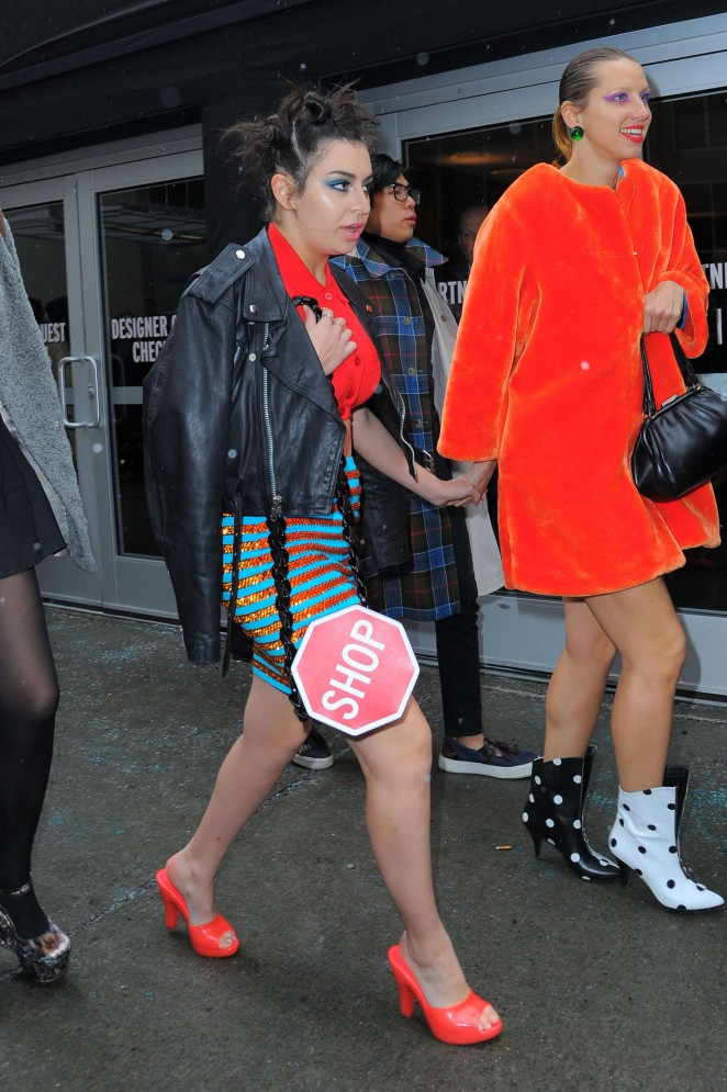 Charli XCX - Arrives at Jerremy Scott NYFW 2016 in New York