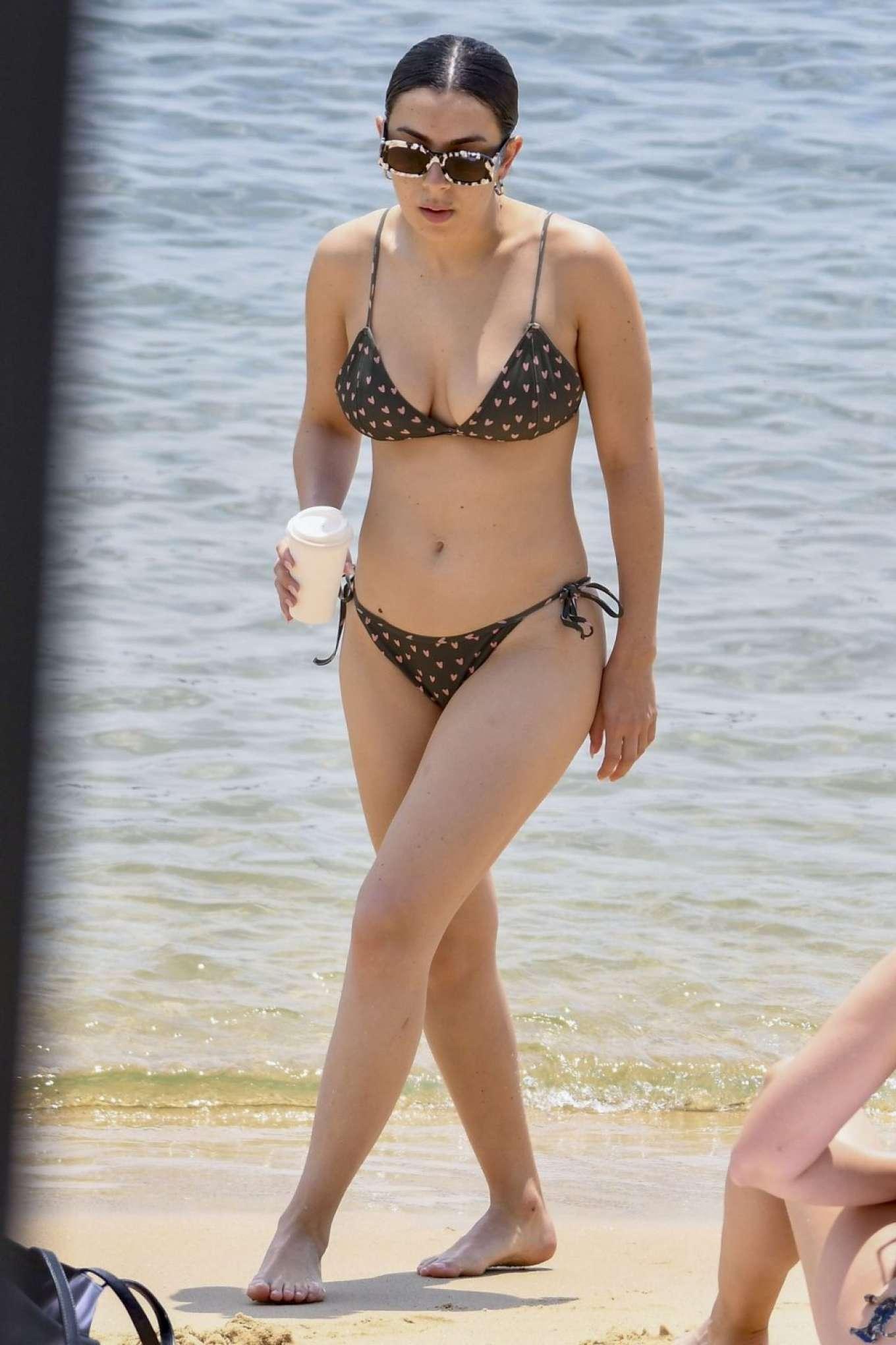 Charli XCX in Bikini on the beach in Sydney