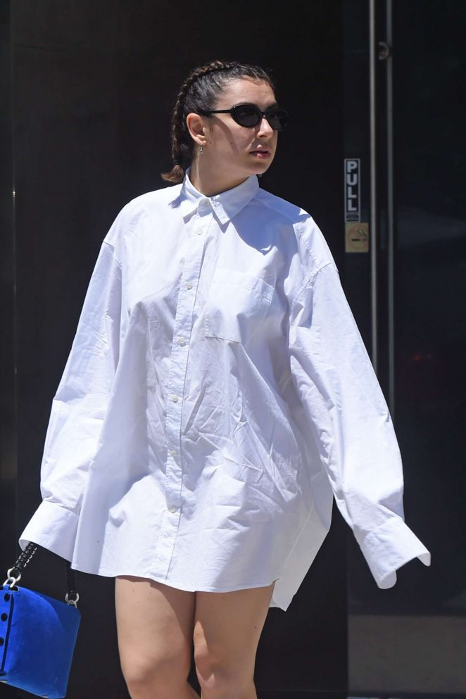 Charli XCX in White Shirt - Out and about in Los Angeles