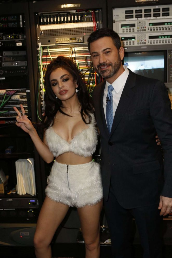 Charli XCX: Performs at Jimmy Kimmel Live -09