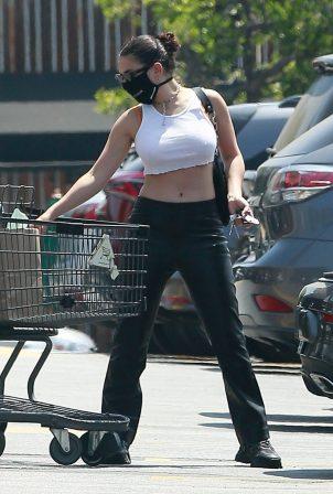 Charli XCX - Shopping at supermarket in Los Feliz - California