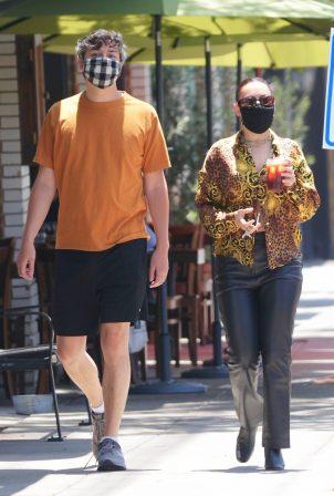 Charli XCX with her boyfriend in Los Feliz
