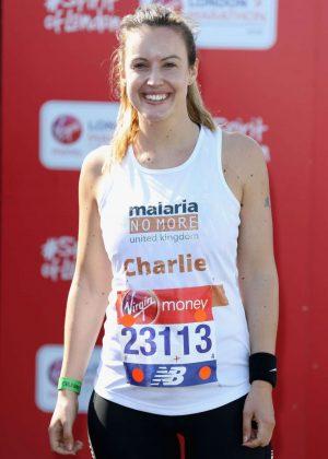Charlie Webster at London Marathon