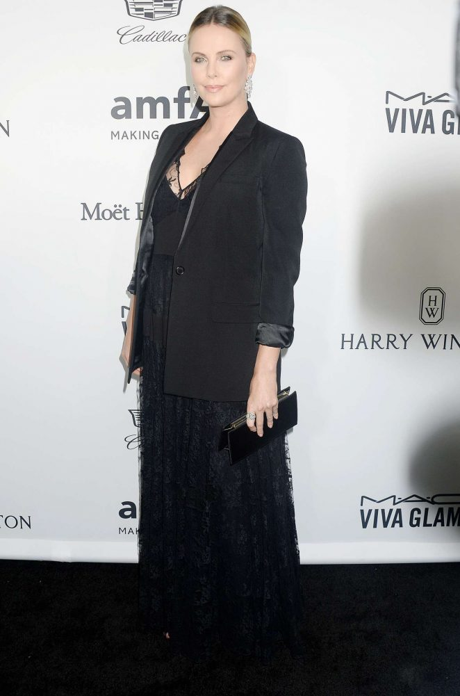 Charlize Theron – 2016 amfAR Inspiration Gala in Los Angeles