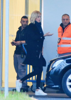 Charlize Theron - Arrives at Airport in Milan