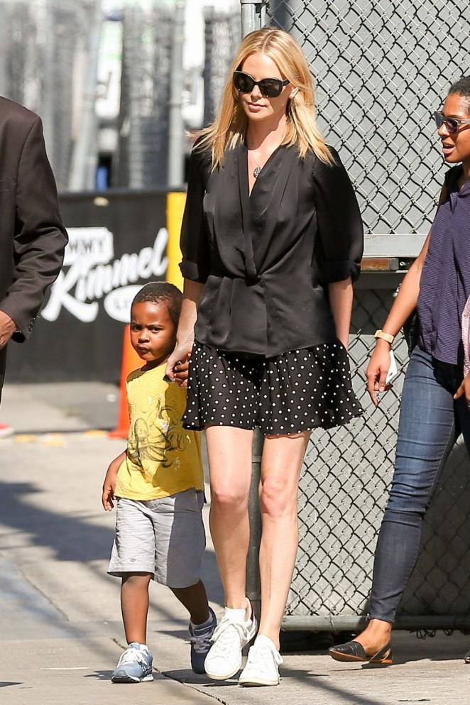 Charlize Theron – Arrives at 'Jimmy Kimmel Live!' in Hollywood