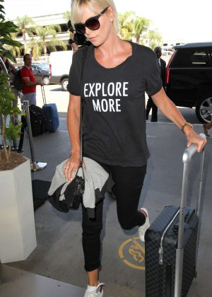 Charlize Theron Arrives at LAX in Los Angeles