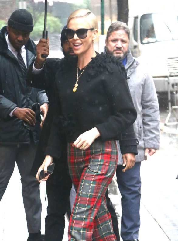 Charlize Theron - Arrives at The View in New York