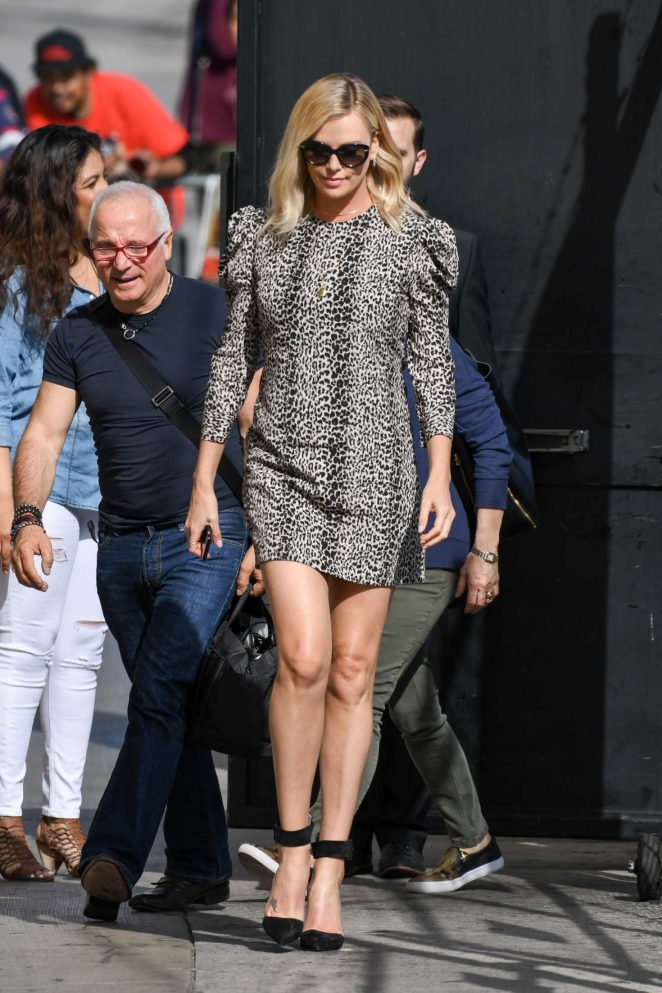Charlize Theron - Arriving at Jimmy Kimmel Live! in LA