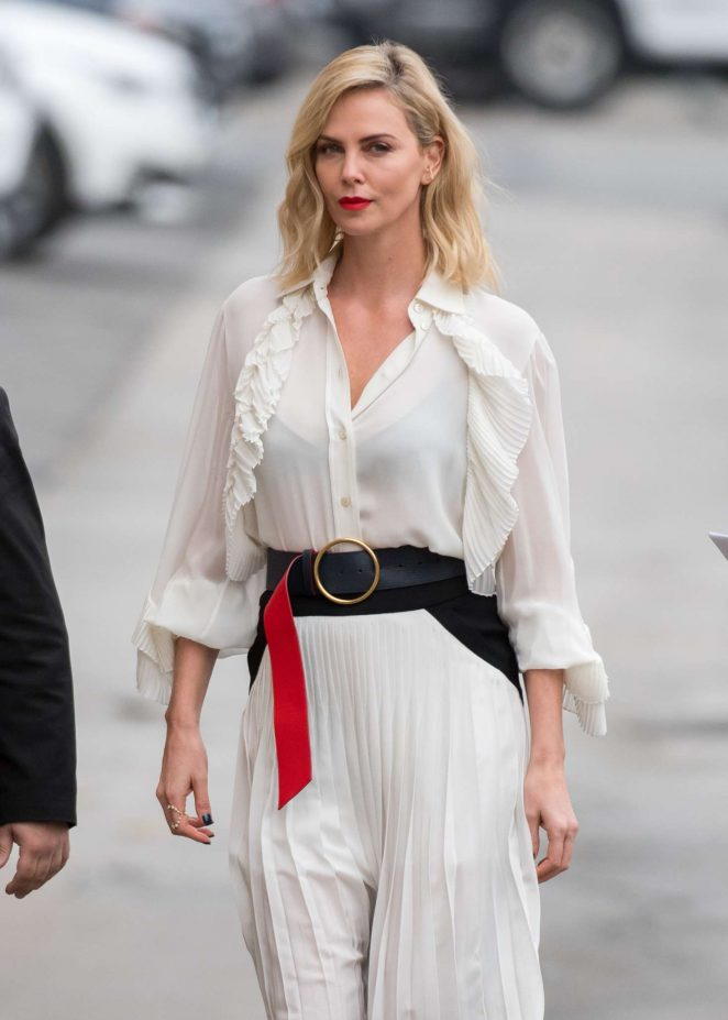 Theron arriving at jimmy kimmel live in la charlize theron arriving at jimmy kimmel live in la voltagebd Gallery