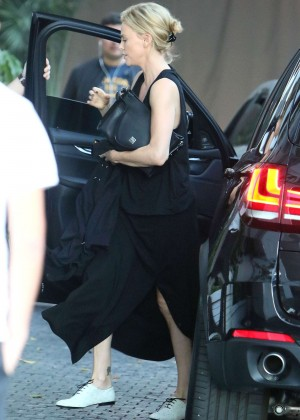 Charlize Theron - Arriving at the Chateau Marmont in West Hollywood