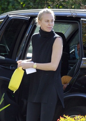 Charlize Theron at a dance class in Hollywood