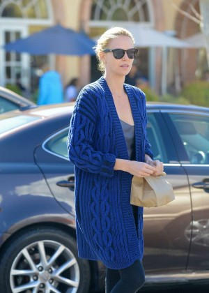 Charlize Theron at Coogies Beach Cafe in Malibu