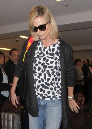 Charlize Theron at LAX Airport in Los Angeles