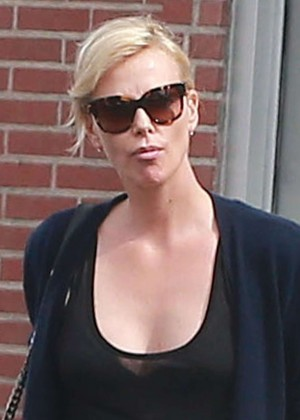 Charlize Theron at Meche Salon in Beverly Hills