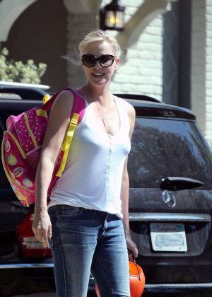 Charlize Theron at Salt & Straw in Hollywood