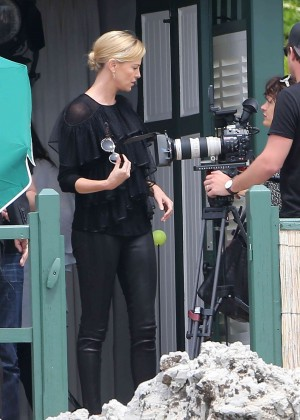 Charlize Theron - Eden Roc Hotel in Cannes