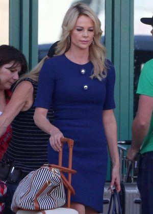 Charlize Theron - Filming project in LA