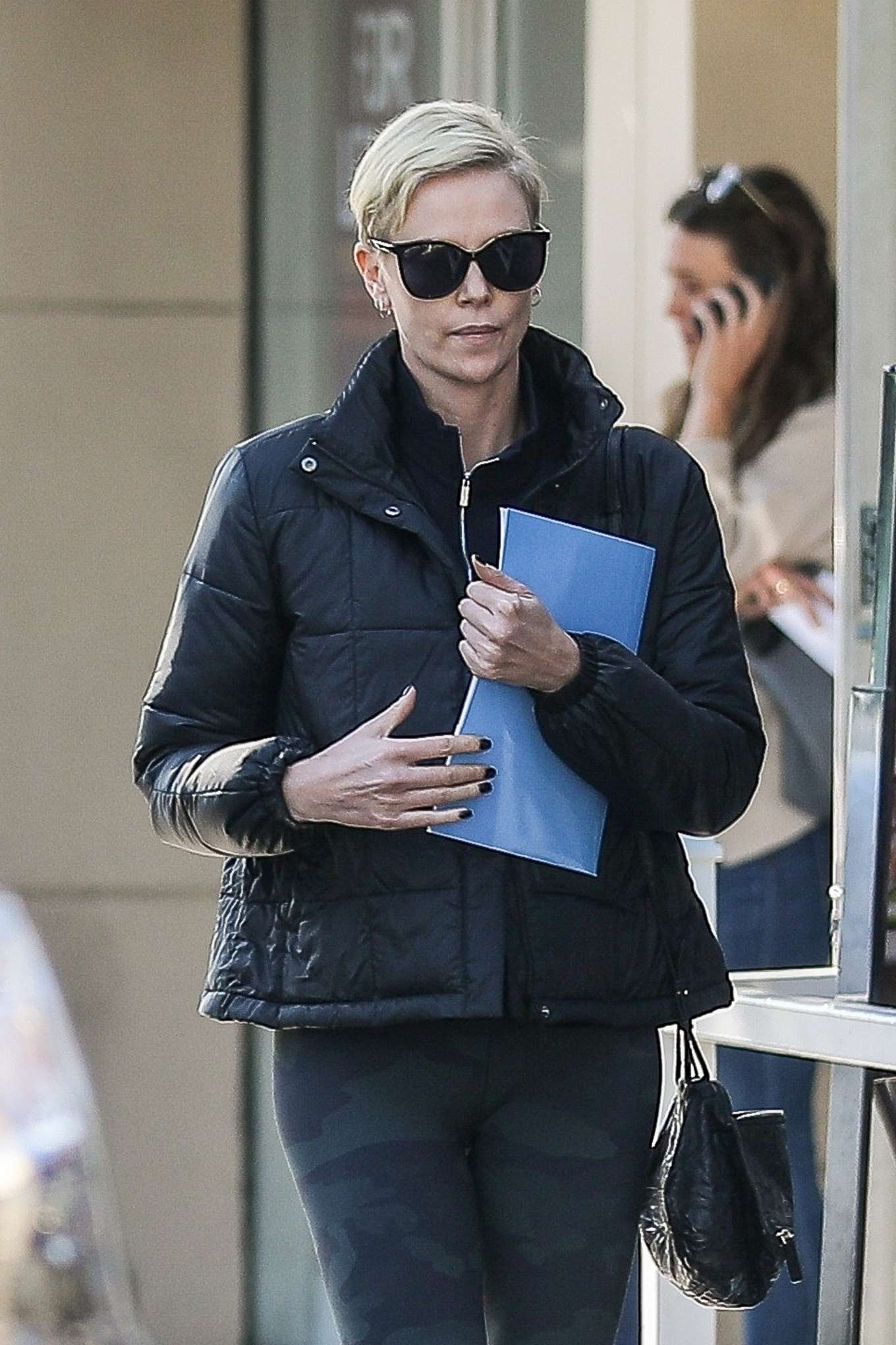 Charlize Theron - Heads to a meditation class in Beverly Hills