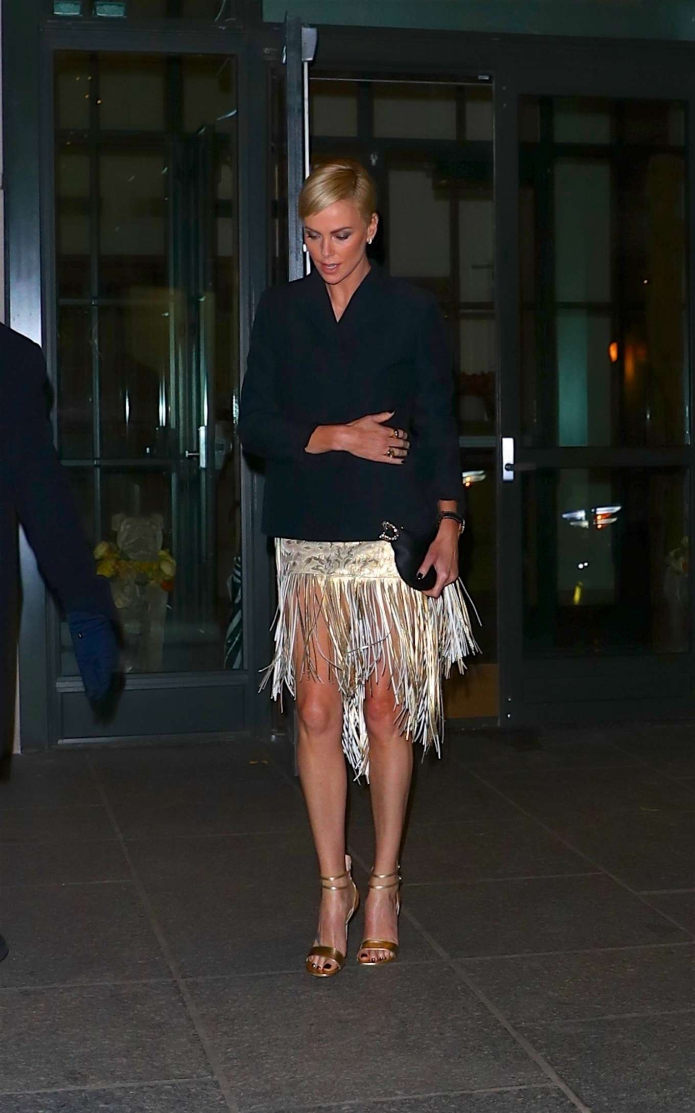 Charlize Theron – Heads to an event in New York City-01