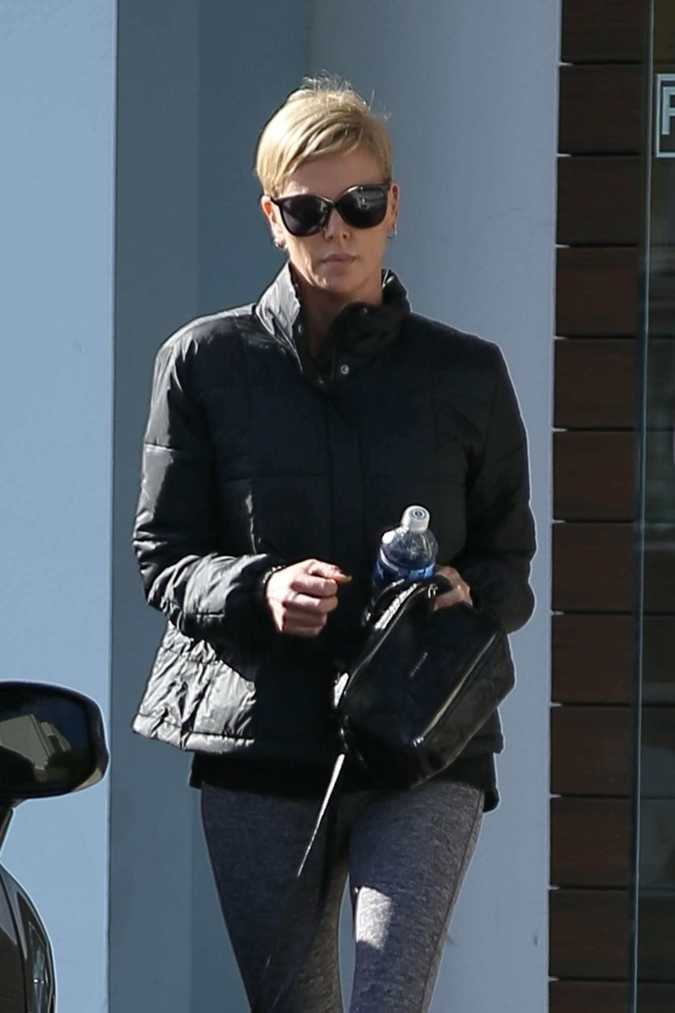 Charlize Theron - Hits up a gym in Beverly Hills