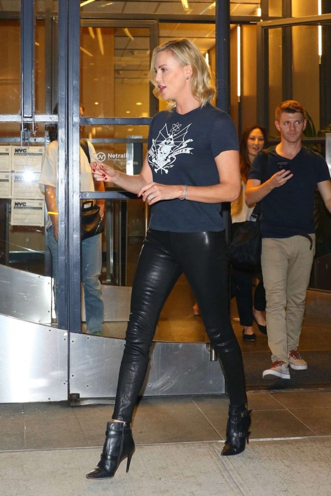 Charlize Theron - Hot In Leather Pants - Watch What Happens Live In New York