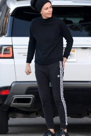 Charlize Theron in Black Sweats - Out in Los Angeles