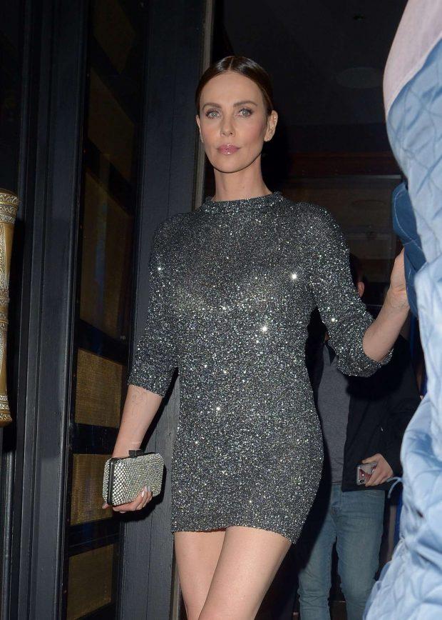 Charlize Theron in Mini Dress -05