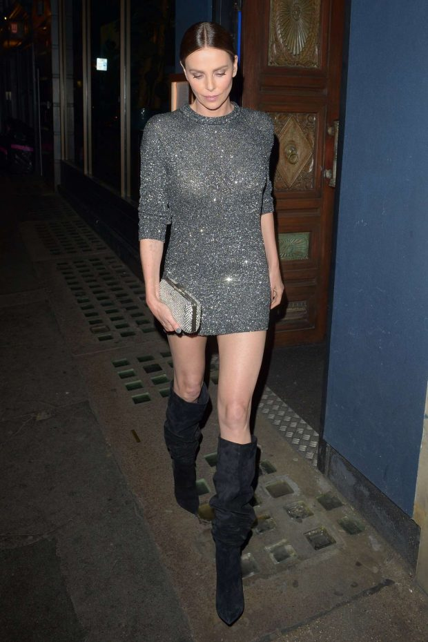 Charlize Theron in Mini Dress - Out in London