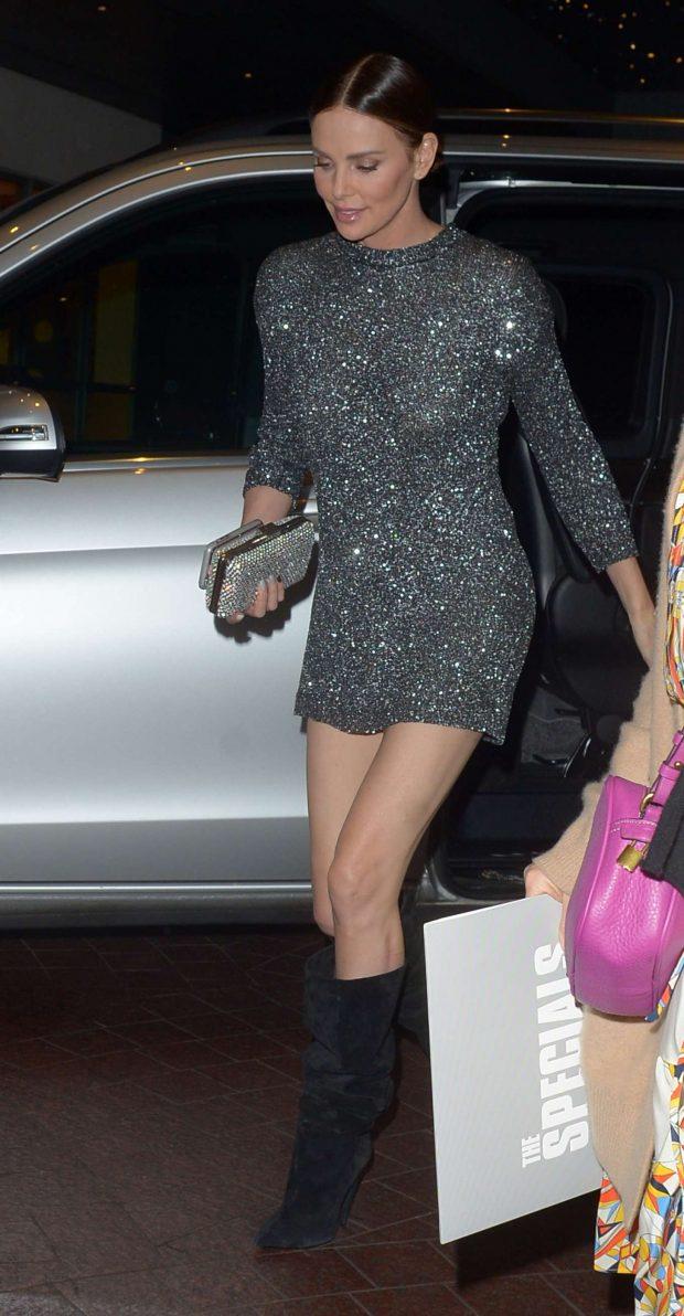 Charlize Theron in Mini Dress -08