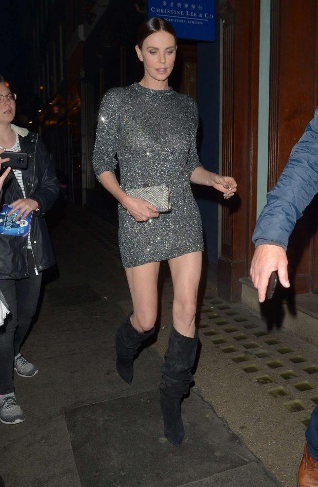Charlize Theron in Mini Dress -10