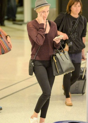 Charlize Theron in Tights returns to LA