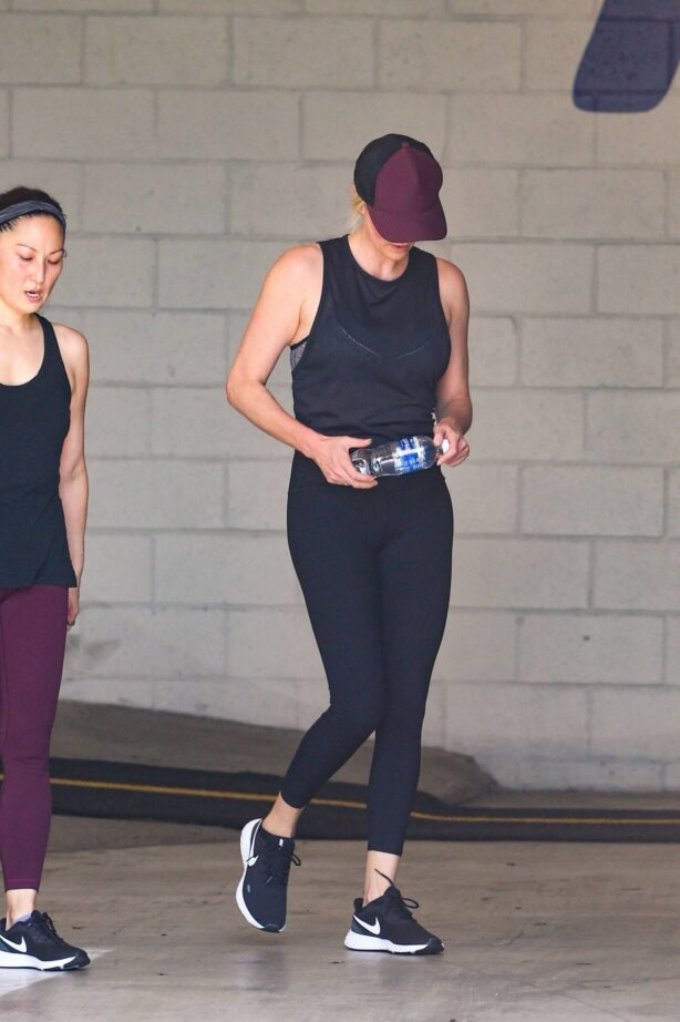 Charlize Theron - leaves a gym session with a friend in Los Angeles