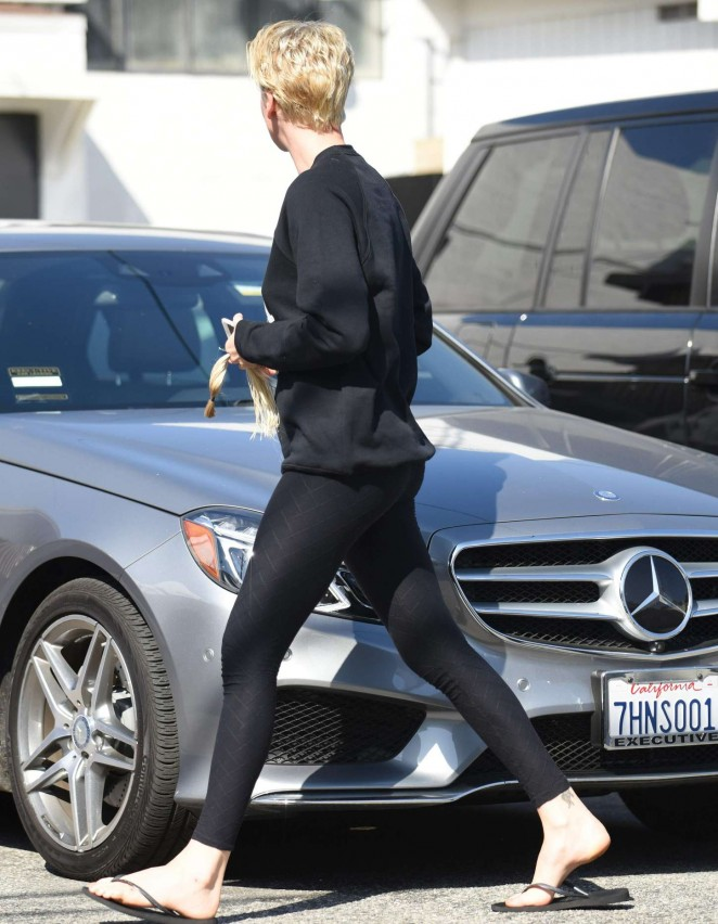 Charlize Theron - Leaves Hair Salon in Beverly Hills