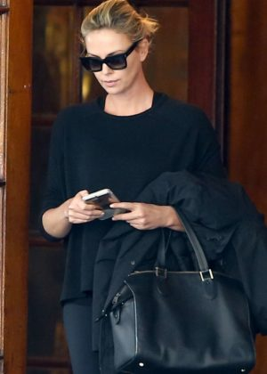 Charlize Theron - Leaves her hotel in Montreal