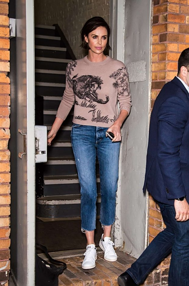 Charlize Theron - leaves The Daily Show in New York