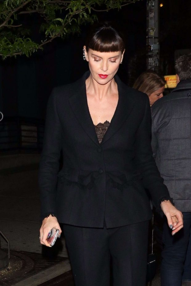 Charlize Theron - Leaves the 'Long Shot' Premiere After Party in in New York