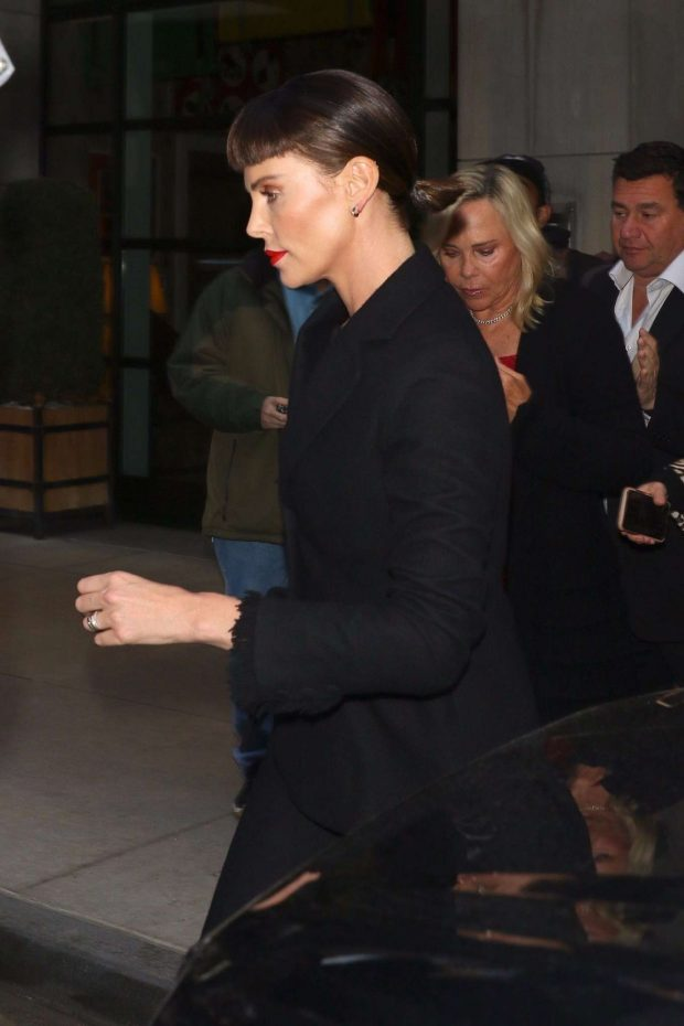 Charlize Theron: Leaves the Long Shot Premiere After Party -08