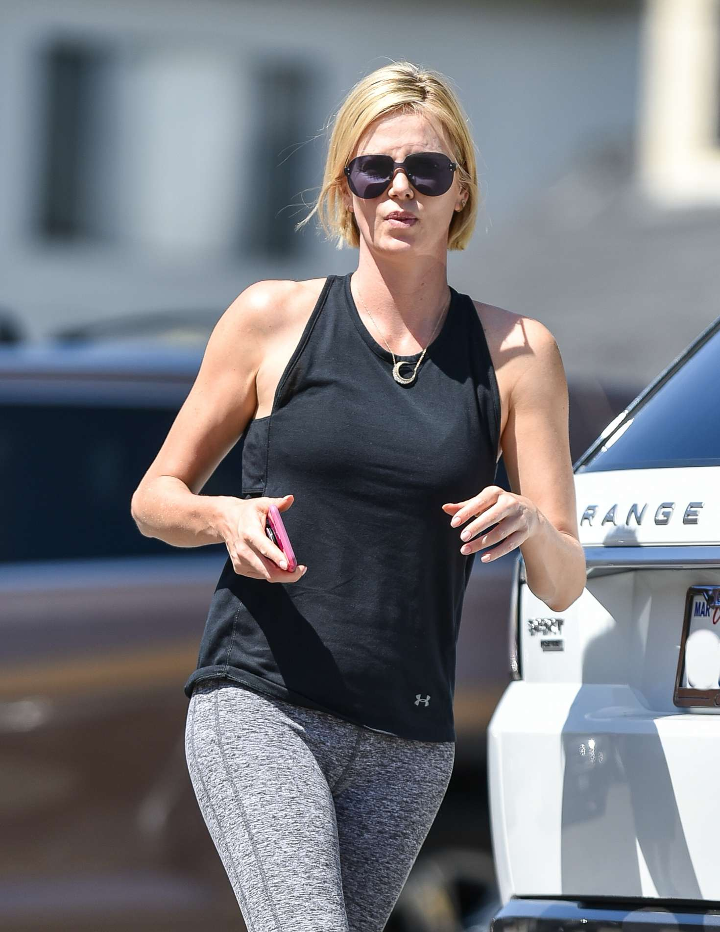 Charlize Theron - Leaving a dance class in Los Angeles
